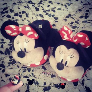 Miniature Minnie mouse primark slippers by ionescudiana