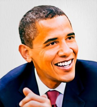 Obama Smile Paint 2 by EZENT