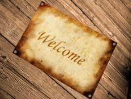 Welcome sign to download by maftbp