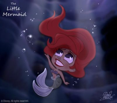 50 Chibis Disney : the Little Mermaid by princekido