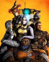 Borderlands 2 Vault Hunters by Yhrite