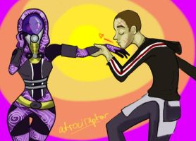 Kiss that Quarian by Atrociraptor