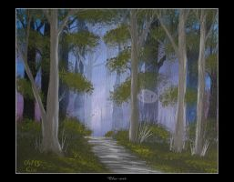 Evening Forest by Clu-art