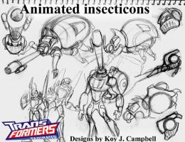 Insecticon concept sketches by NM8R-KJC