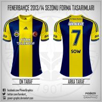 Fenerbahce 2013/14 Sezonu Bayrak Forma Tasarimim-4 by Power-Graphic