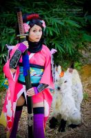 Momohime and Kongiku fox:::::: by Witchiko