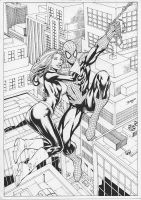 Spiderman (Peter Parker) with Kitty Pryde love by DiazH2xtremPPKP