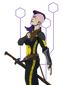 Android Warrior Woman by Belabras