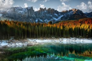 Carezza Lake by marcocarmassi