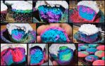 Platinum Neon Psychedelic Cupcakes! by XenOhm