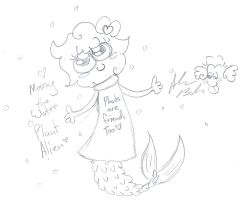 Mossy the water plant alien by Kittychan2005