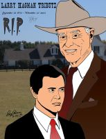 Dallas: A tribute to Larry (J.R.) Hagman-color #3 by RoyPrince