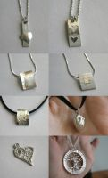 Silver clay things - February by ihni
