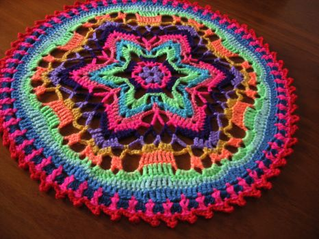 Crochet mandala by Craftcove