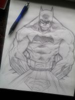 Batman warm up sketch by DamageArts