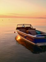 Dassia boats at sunrise 5 by melrissbrook