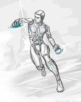 Tron Sketch by InkyBrain