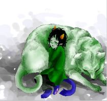 Nepeta and her Lusus by ryuzaki1