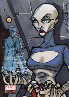 SW Galaxy Sketch Card Assajj by Hodges-Art