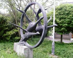 geese statue 2 by priesteres-stock