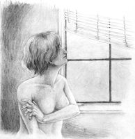 staring out the window by Reymonkey