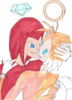 knuckles x tails by L1ghtningpaw