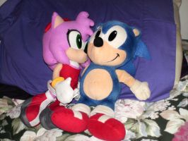 Sonic X Amy plushies by PPG-Katelyn