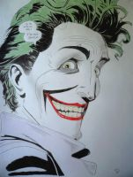 Portrait of Joker - The Killing Joke by DaphneDrawings