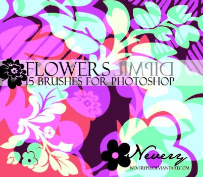 Flowers Limpid Brushes by Neveryph-stock