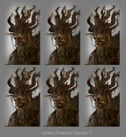 Treeman Expressions by AlexRuizArt