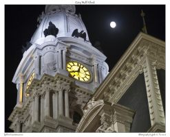 City Hall Clock by yellowcaseartist
