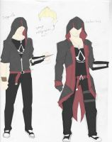 Nate Assassin Outfits by ShortEthan