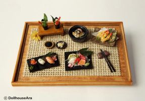 Sushi, Sashimi, Maki Japanese food sets by dollhouseara
