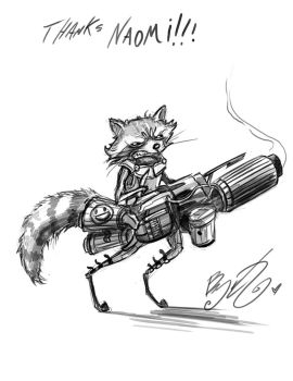 Doodle - Rocket Raccoon by BunnyBennett