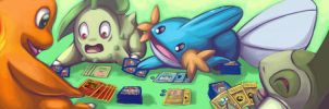 pokemon playing pokemon by Chibi-C