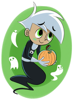 Ghost Boy give u pumkin by ecokitty