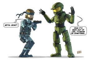 Halo There Snake by ShadowMaginis