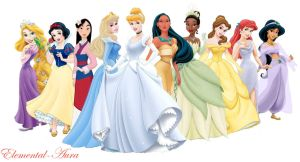 Official Disney Princesses by Elemental-Aura