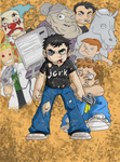 Kid Dan Vs. Everything colored by Loeobot