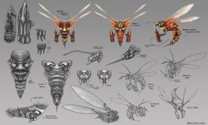 Warrior Wasp Model Sheet by whatzitoya