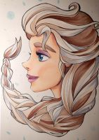 Elsa - La Reine des Glaces by 22DreamOfMidnight22