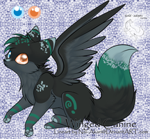 Winged Canine adopt-closed- by gold-adopts
