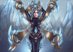 Frostblade Irelia- Commission for UnchouKanudes by RinRinDaishi
