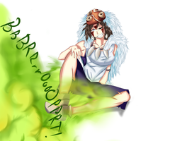 Art Trade for SMeo2020 - Princess Mononoke Farting by ProButtonMasher