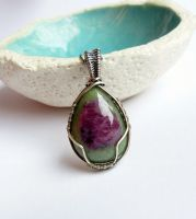 Ruby zoisite pendant by Kreagora