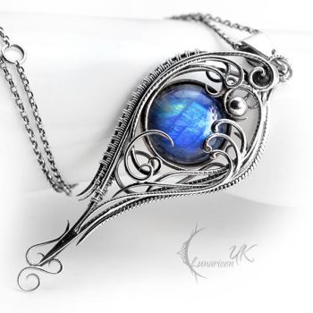 YATHARILN - Silver and Moonstone by LUNARIEEN