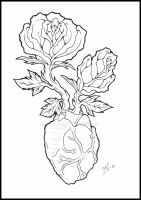 Roses lineart by Kattvalk