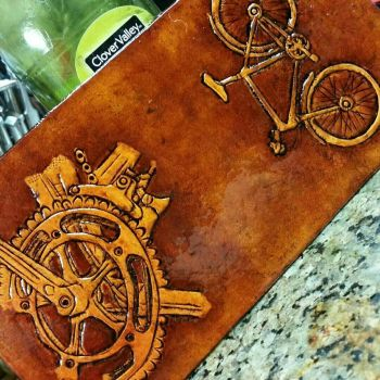 bicycle wallet  by WorldofLeathercraft