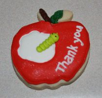 Teacher's Thank you Apple Cookie by picworth1000wrds