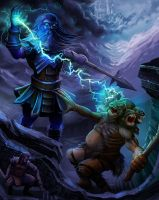 Storm Giant for Legendary Games Pathfinder by MichaelJaecks